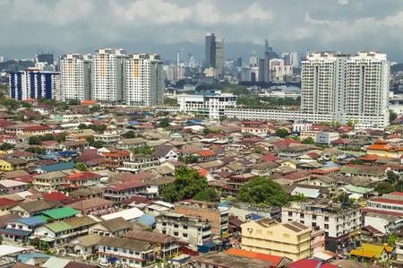 Foto de Aerial view of Petaling Jaya leading to Kuala Lumpur city centre - Imagen libre de derechos