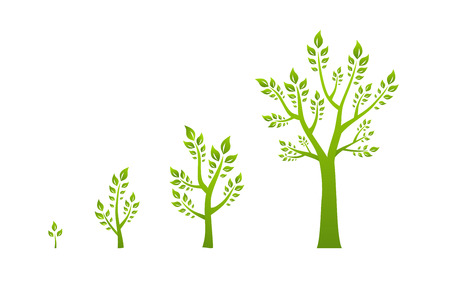 Illustration pour Green tree growth eco concept - image libre de droit