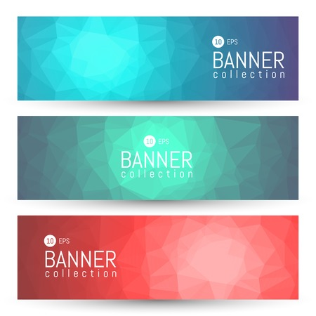 Illustration pour Site Banner Collection. Headers Set. Hero Backgrounds - image libre de droit