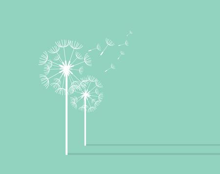 Photo pour Dandelion Background. Retro Concept Vector Illustration - image libre de droit