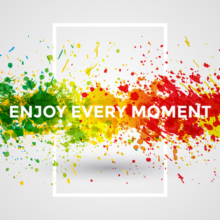 Foto de Motivation bright Paint Splashes vector Watercolor Poster - Imagen libre de derechos