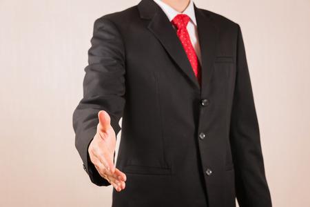 Photo pour Businessman will hand shaking as business, teamwork and commitment concept - image libre de droit