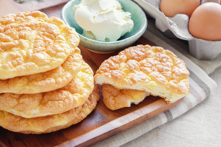 Photo for Cloud bread, Oopsie bread , Keto, ketogenic diet, paleo, low carb high fat - Royalty Free Image