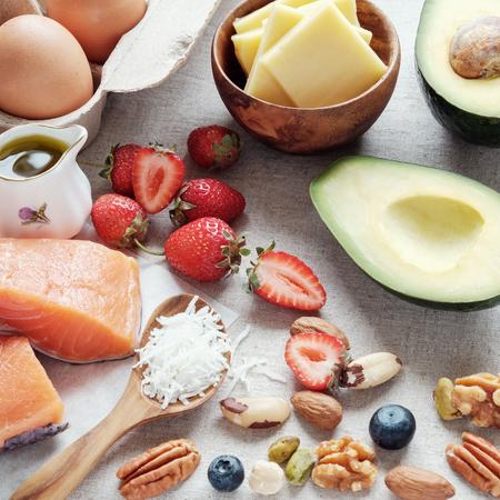 Foto de ketogenic diet, low carb, high good fat ,  healthy food - Imagen libre de derechos