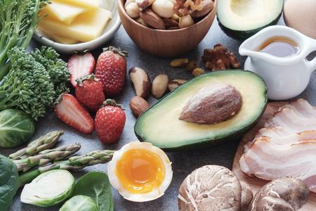 Foto de Keto, Ketogenic diet, low carb, healthy food - Imagen libre de derechos