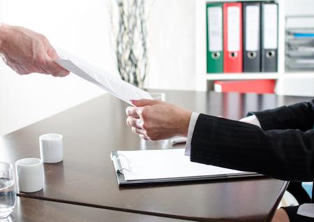 Photo pour Document handing at office - image libre de droit