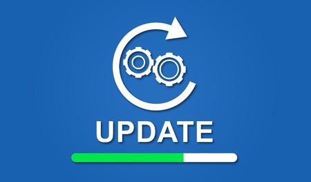 Foto de Illustration of an update concept - Imagen libre de derechos