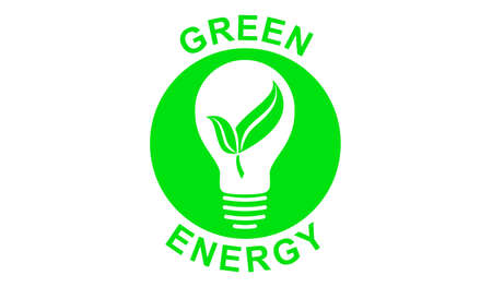 Illustration of a green energy concept