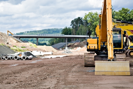 Photo pour Construction of neu motorway in Germany - image libre de droit