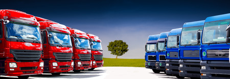 Photo for truck fleet on the car park - Royalty Free Image