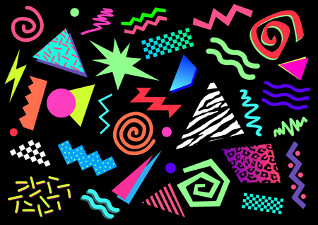 Illustration for 80s Abstract Shapes - Royalty Free Image