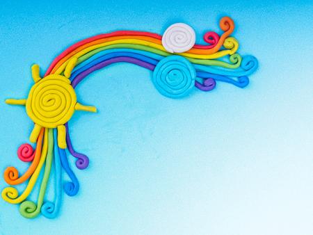 Foto de rainbow create from plasticine - Imagen libre de derechos