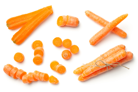Photo for Baby, mini carrots isolated on white background. To view  - Royalty Free Image