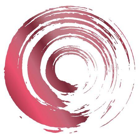 Ilustración de A circle drawn with a brush. - Imagen libre de derechos