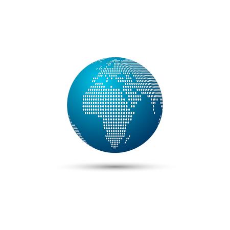 Illustration pour Dotted world map focus on africa vector illustration - image libre de droit