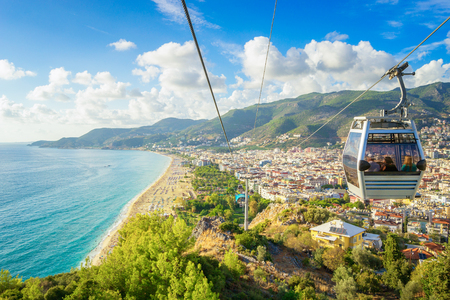 Photo pour Alanya Cityscape from a funicular, Turkey - image libre de droit
