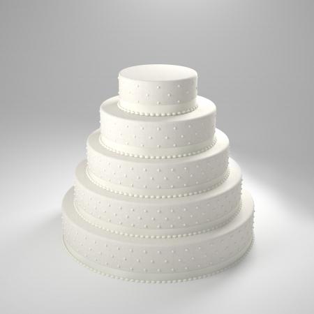 Photo pour 3d image of classic wedding cake - image libre de droit