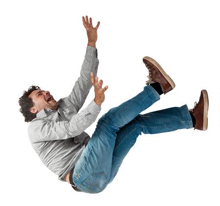 Foto de falling man isolated on white background - Imagen libre de derechos