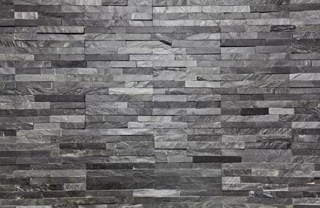 Foto de real slate brick interior wall background - Imagen libre de derechos