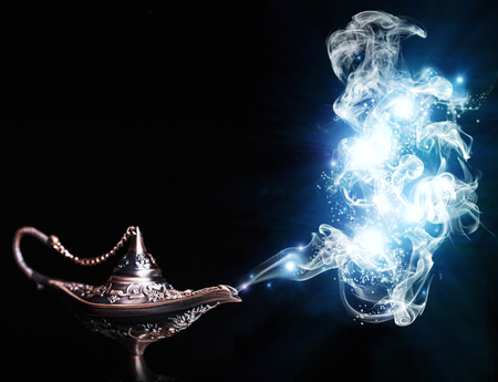 Photo for aladdin lamp on black background - Royalty Free Image