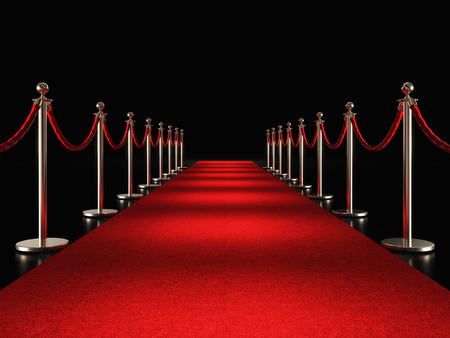 Foto per classic red carpet 3d rendering image - Immagine Royalty Free