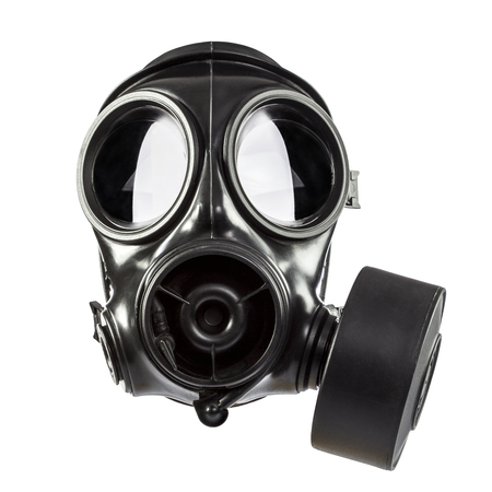 Photo pour army gas mask isolated on white background - image libre de droit