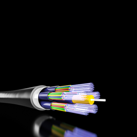 Foto de 3d rendering of optical fiber background - Imagen libre de derechos