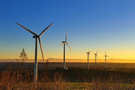 Photo for a wind turbines in the South of France - Royalty Free Image