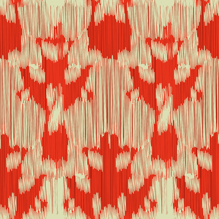 Illustration for Seamless Ikat Pattern. Abstract  background for textile design, wallpaper, surface textures, wrapping paper. - Royalty Free Image