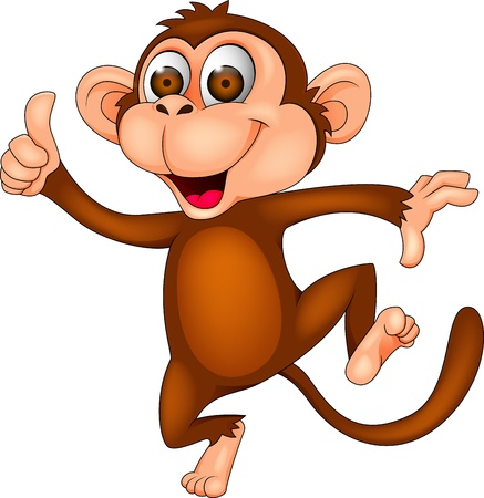 Photo for Dancing monkey with thumb up - Royalty Free Image