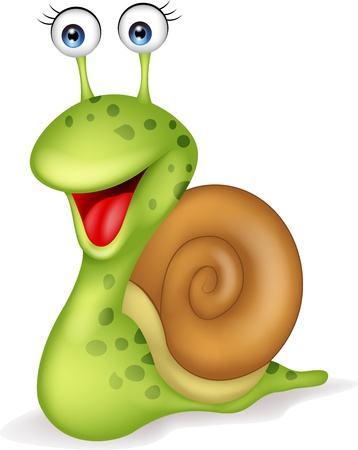 Foto per Smiling snail cartoon  - Immagine Royalty Free
