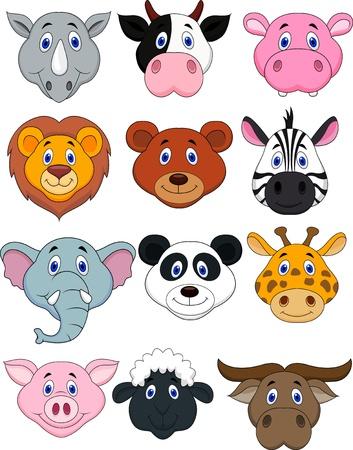 Illustration for Cartoon animal head icon  - Royalty Free Image