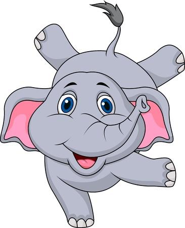 Cute elephant cartoon circus