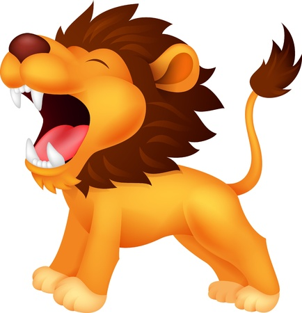 Illustration for Lion cartoon roaring - Royalty Free Image
