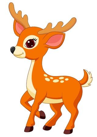 Illustration pour Cute deer cartoon - image libre de droit