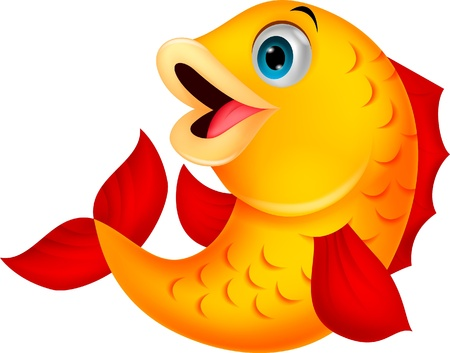 Cute fish cartoon