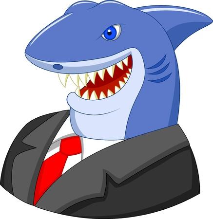 Ilustración de Business shark cartoon - Imagen libre de derechos