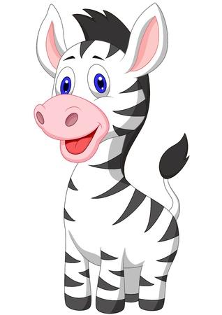 Illustration for Cute baby zebra cartoon - Royalty Free Image