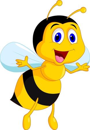 Illustration pour Cute bee cartoon - image libre de droit