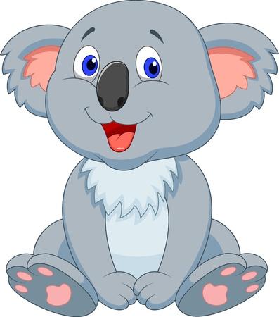 Illustration pour Cute koala cartoon - image libre de droit