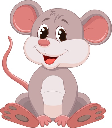 Photo for Cute mouse cartoon  - Royalty Free Image