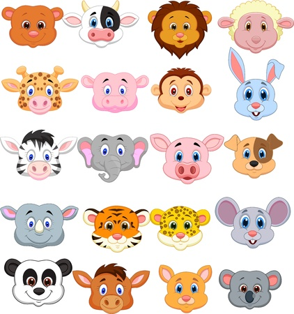 Photo pour Cartoon animal head icon  - image libre de droit