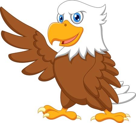 Foto für Eagle cartoon waving  - Lizenzfreies Bild