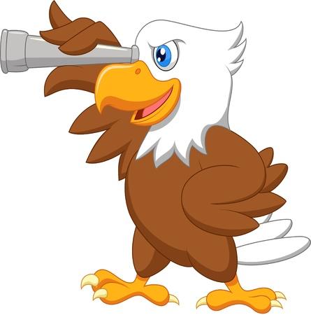 Foto de Eagle cartoon watching  - Imagen libre de derechos