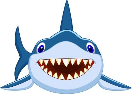 Illustration pour Cute shark cartoon  - image libre de droit