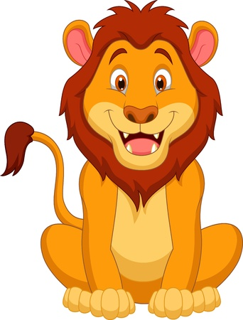 Illustration for Cute lion cartoon  - Royalty Free Image