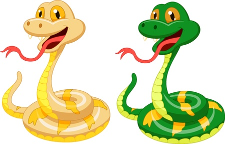 Cute snake cartoon