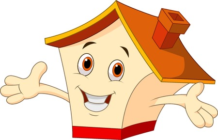 Illustration for Cute house cartoon  - Royalty Free Image