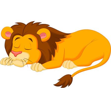 Illustration for Lion cartoon sleeping  - Royalty Free Image