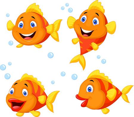 Cute fish cartoon collection set